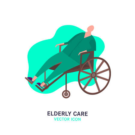 The old man in a wheelchair