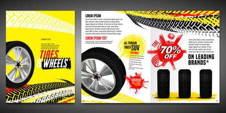 Vector automotive brochure template 向量圖像