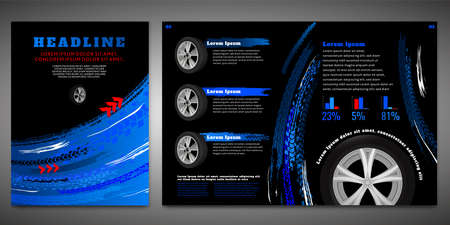 Vector automotive brochure template  イラスト・ベクター素材