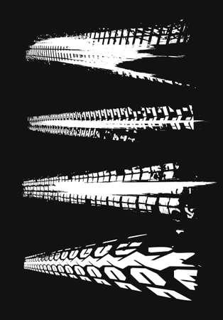 Automobile tire tracks