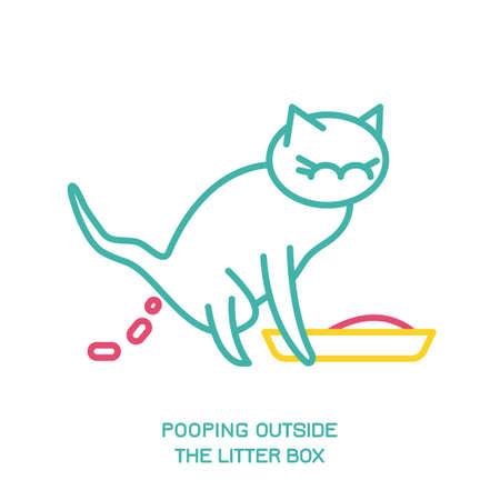 Cat Behavior Icons Ilustração