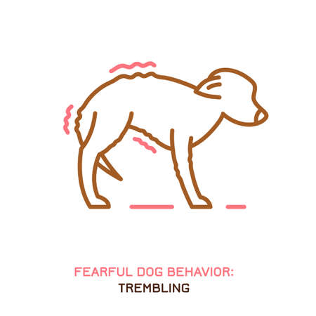 Dog fearful behavior icon