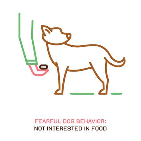 Dog fearful behavior icon