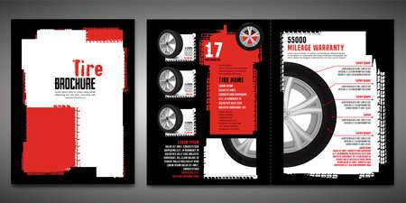 Tire Brochure Template Ilustração