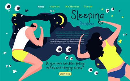 Sleeping problems landing page
