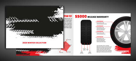 Tire Brochure Template Illustration