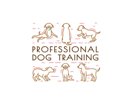 Dog training center image Illustration