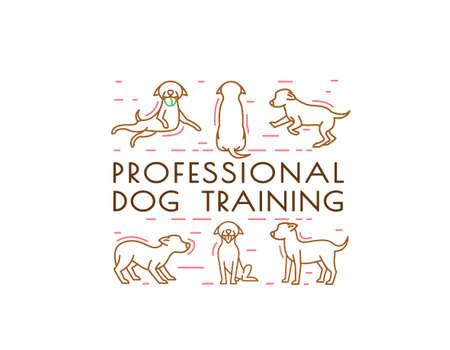 Dog training center image Illustration