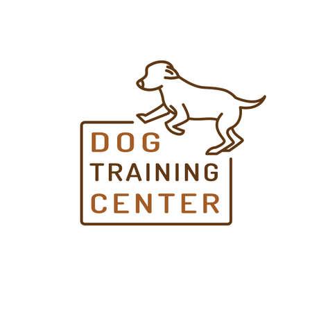 Dog training center icon