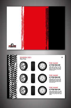 Vector automotive brochure template Ilustração