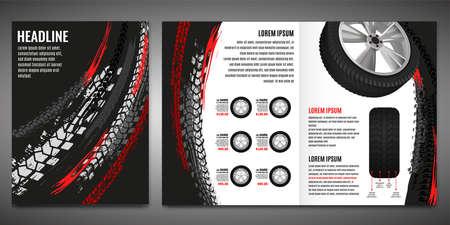 Tire Brochure Template Stock Illustratie