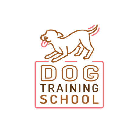 Dog training center icon