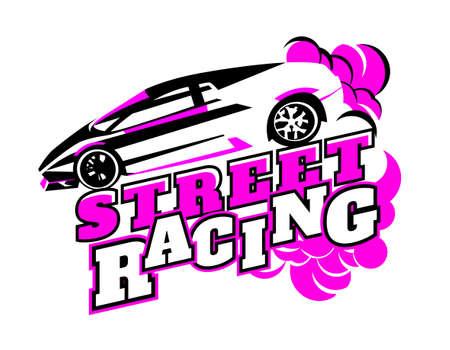 Motorsport event logotype Illustration