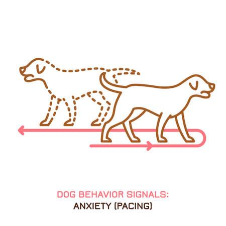 Dog behavior icon
