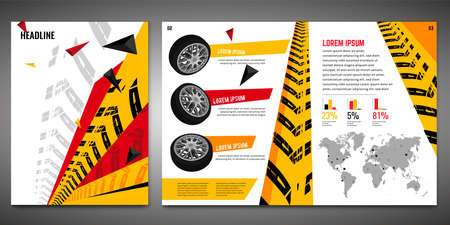 Tire Brochure Template 向量圖像