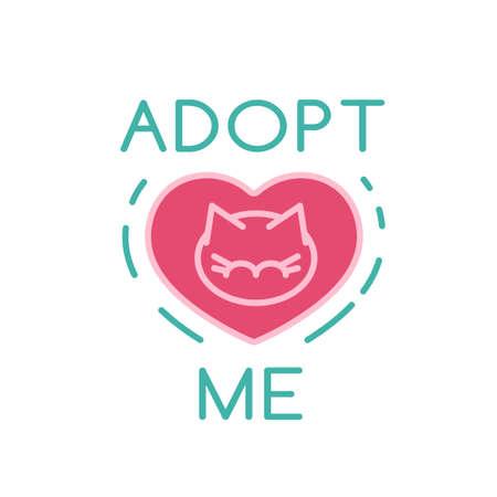 Cat Adoption logotype Reklamní fotografie - 138351866