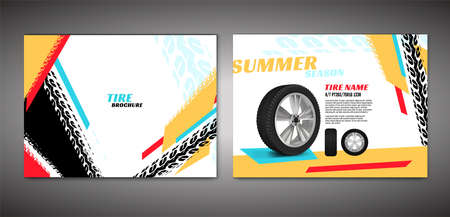 Tire Brochure Template Illustration