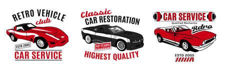 Logo de service de voiture rétro Logo