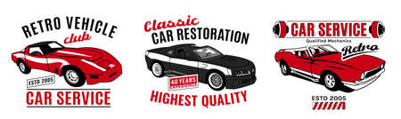 Retro Car Service Logo Logo