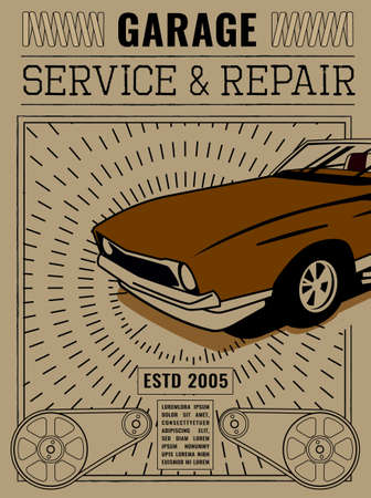 Retro Auto Tyre Poster