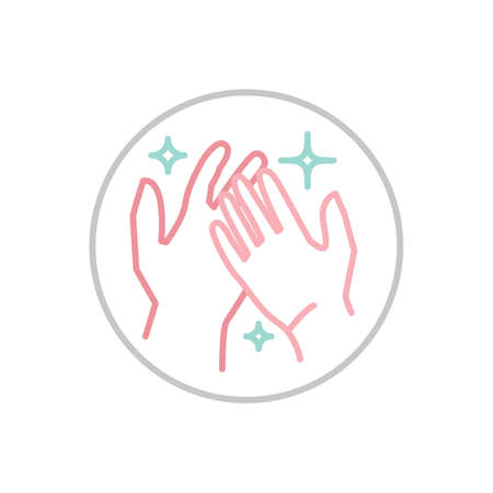 Hand wash hygiene icon. Respiratory hygiene sign. Anti-bacterial hands washing pictogram. Medical care concept. Vector illustration isolated on a white background Vektorové ilustrace