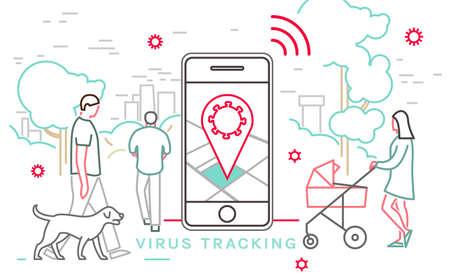 Virus Tracking Image