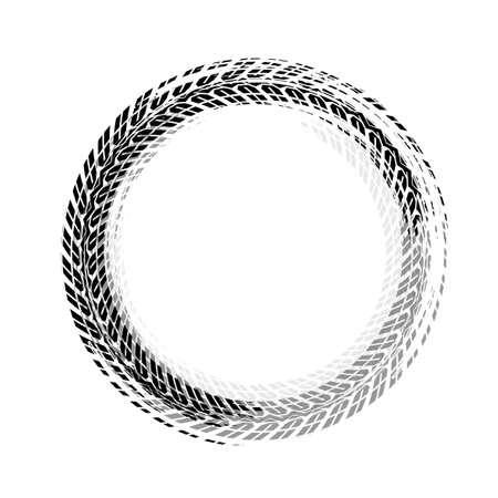 Tire track circle grunge frame Ilustração