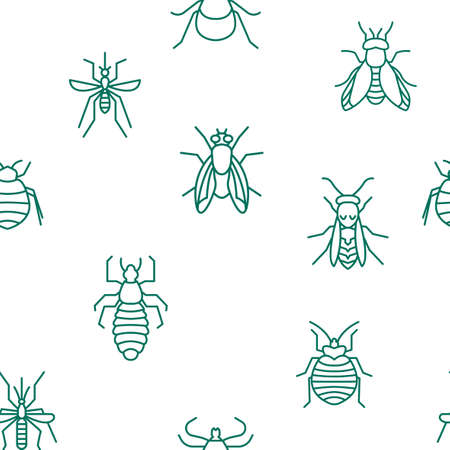 Insects seamless pattern