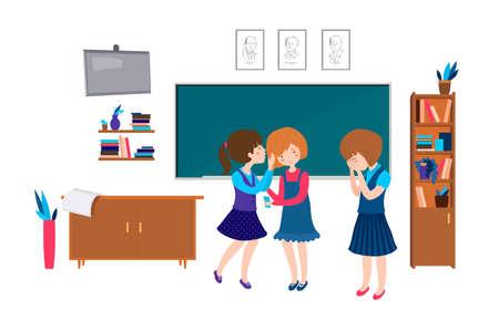 Children school behavior Ilustración de vector