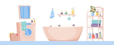 Bathroom interior image Stock Illustratie