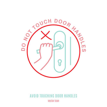 Do not touch handle-06 Illustration