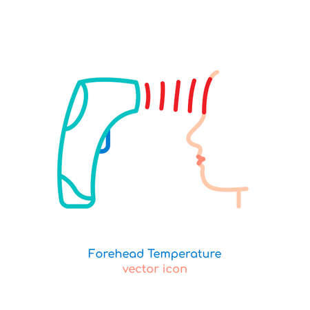 Man forehead temperature