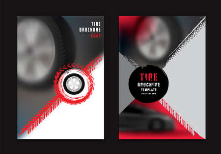 Vector automotive brochure template Illustration