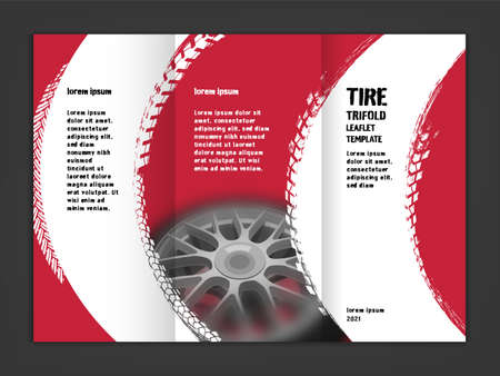 Vector automotive leaflet template