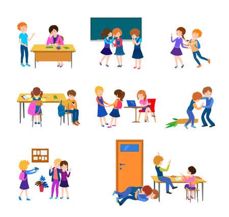 school class behavior set Banque d'images - 152485937