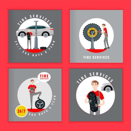 Tire Brochure Mechanic Banque d'images - 152662761