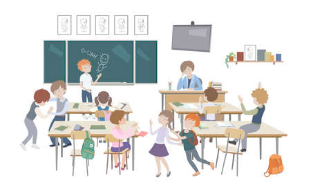 school class behavior teacher Banque d'images - 152990524