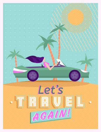Lets travel again Banque d'images - 153574578