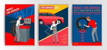 Tire Brochure Mechanic Banque d'images - 153482306