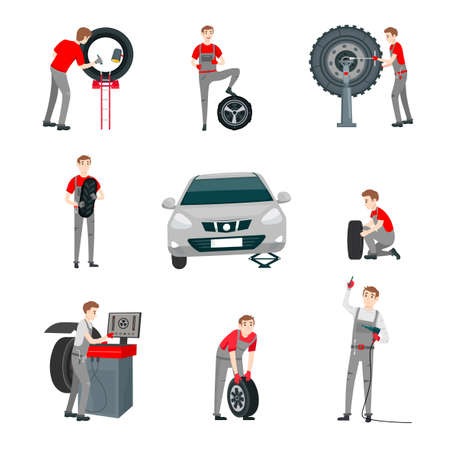 car mechanic set Illustration