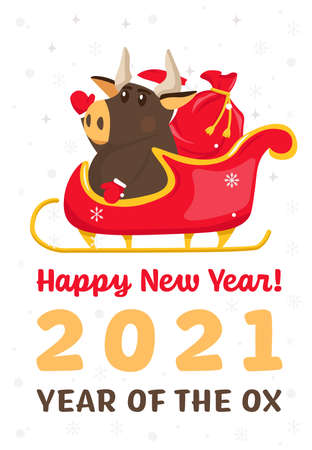 New year postcard. Banque d'images - 155038339