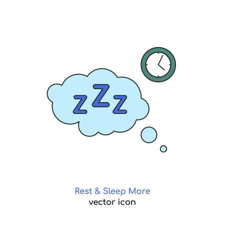 Rest and sleep more icon