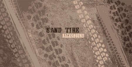 Tire Poster Sand Background 일러스트