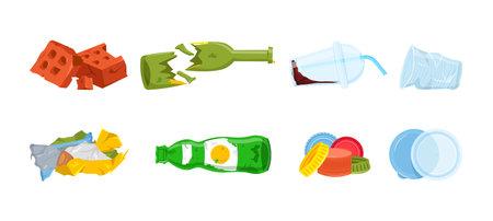Garbage types set