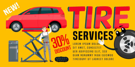 Wheels and tyre fitting service banner