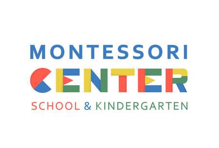 Montessori logotype. Public school and kindergarten logo Ilustrace