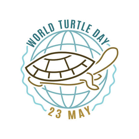 World turtle day in May. International event. Ilustrace