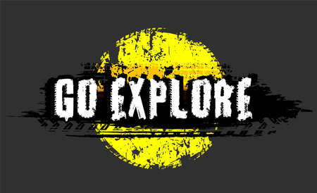 Off-Road hand drawn grunge lettering. Go explore