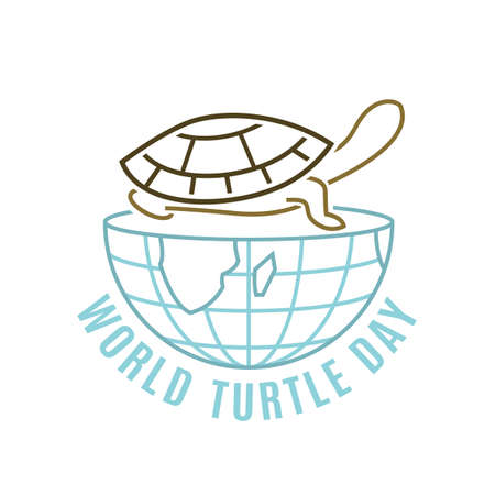 World turtle day in May. International event logo