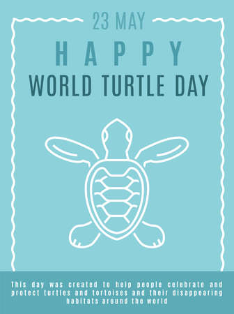 World turtle day in May. International event poster